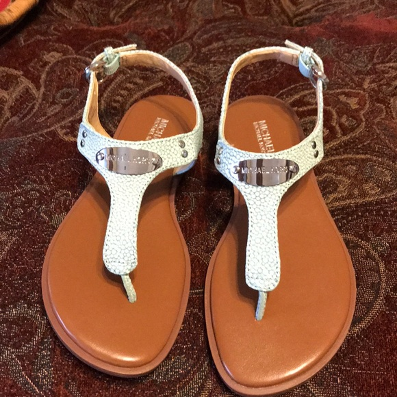 3200933f590f MICHAEL Michael Kors Plate Leather Thong Sandals